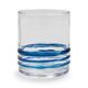 Acrylic Blue Ring Double Old Fashioned Glass