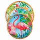 Tropical Flamingo 12-Piece Dinnerware Set