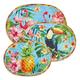 Tropical Oval Melamine Platters, Set of 3