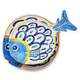 Positano Melamine Fish Platters, Set of 2