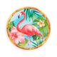 Tropical Flamingo Melamine Salad Plate