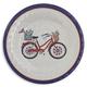 Bicycle Melamine Salad Plate