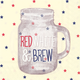 Red, White & Brew Cocktail Napkins, Set of 20