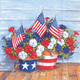 Patriotic Petunia Cocktail Napkins, Set of 20