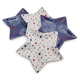 Stars and Fireworks Melamine Appetizer Plates, Set of 4