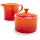 Le Creuset® Flame Sugar and Creamer Set