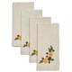 Embroidered Floral Napkins, Set of 4