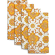Chain-Link Floral Napkins, Set of 4