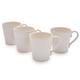 Pearl Stoneware Coffee Mugs, Set of 4