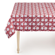 Red & Blue Flower Tablecloth