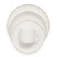 Gourmet Essentials Bone China 16-Piece Coupe Dinnerware Set