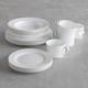 Gourmet Essentials Bone China 16-Piece Classic Dinnerware Set