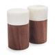 Marble & Walnut Salt & Pepper Shakers