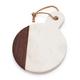Marble & Walnut Round Cheese Paddle