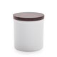 Porcelain Canisters with Walnut Lid