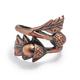 Bronze Acorn Leaf Napkin Ring