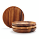 Acacia Wood Appetizer Plates, Set of 4