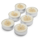 Gold Leaves Tealight Candles, Set of 6