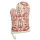 Paisley Embroidered Rose Oven Mitt