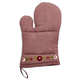 Pink Embroidered Rose Oven Mitt