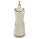 Red Embroidered Flowers Apron