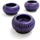 Purple Glass Tealight Candle Holder