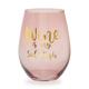 'Wine Is My Side Dish' Stemless Glass, 20 oz.