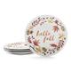 Thanksgiving Appetizer Plates, Set of 4