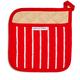 Red Butcher Stripe Pot Holder