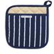 Blue Butcher Stripe Pot Holder