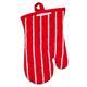 Red Butcher Stripe Oven Mitt