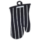 Black Butcher Stripe Oven Mitt