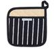 Black Butcher Stripe Pot Holder