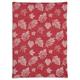 Burgundy Jacquard Leaf Kitchen Towel, 28