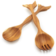 Acacia Wood Bird Servers, Set of 2