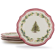 Holly and Pine Dinner Plates, Set of 4