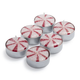 Peppermint Stripe Tealight Candles, Set of 6