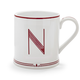 Red Monogram Mugs, 14 oz.