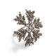 Beaded Snowflake Napkin Rings, Set of 4