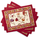 Couleur Nature Fleur Des Indes Printed Placemats, Set of 4