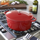Sur La Table® Red Oval Dutch Oven, 8 qt.
