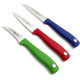 Wüsthof® Silverpoint 3-Piece Colored Paring Knife Set