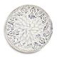 Floral Embossed Round Platter