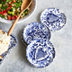 Hand-Painted Damask Appetizer Plates