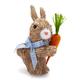 Easter Sisal Bunny Figure
