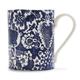Hand-Painted Damask Mug, 16 oz.