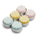 Floral Tealight Candles, Set of 6