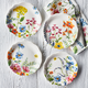 Garden Floral Appetizer Plates, Set of 4