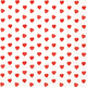 Red Hearts Paper Napkins, Set of 20