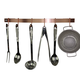 Enclume Brushed Copper Curved Utensil Bar Wall Racks